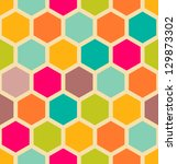 retro geometric hexagon... | Shutterstock .eps vector #129873302