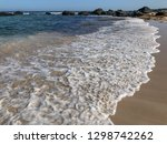 soft wave of blue ocean on... | Shutterstock . vector #1298742262
