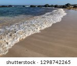 soft wave of blue ocean on... | Shutterstock . vector #1298742265