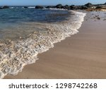 soft wave of blue ocean on... | Shutterstock . vector #1298742268