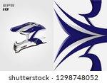 helmet decal wrap designs...   Shutterstock .eps vector #1298748052