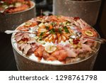 various seafood on the table | Shutterstock . vector #1298761798