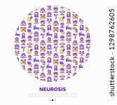 neurosis concept in circle with ... | Shutterstock .eps vector #1298762605