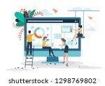 business concept  social media  ... | Shutterstock .eps vector #1298769802