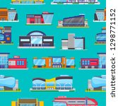 building mall vector storefront ... | Shutterstock .eps vector #1298771152