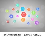 the complex of vitamins and... | Shutterstock .eps vector #1298773522