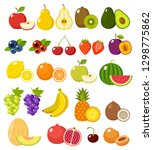fruit on a white background... | Shutterstock .eps vector #1298775862