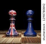 square art concept of brexit... | Shutterstock . vector #1298780842