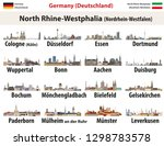 vector set of germany state... | Shutterstock .eps vector #1298783578