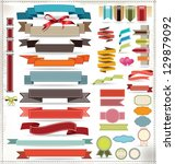 ribbons and labels set | Shutterstock .eps vector #129879092