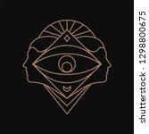 human eye geometric symbol.... | Shutterstock .eps vector #1298800675