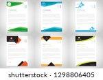 business style letterhead design | Shutterstock .eps vector #1298806405