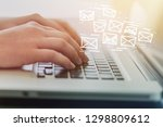 email marketing and newsletter... | Shutterstock . vector #1298809612