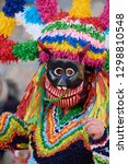 Small photo of VIANA DO BOLO-SPAIN, 26-JANUARY-2019, Mascarada de viana do bolo in Spain where the annual costume meets the most ancestral costumes of the Galician carnival Spain and Portugal