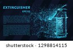 extinguisher. a grid of blue... | Shutterstock .eps vector #1298814115