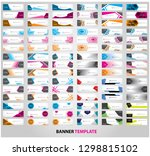 mega collection of 90 abstract... | Shutterstock .eps vector #1298815102