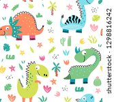 childish seamless pattern with... | Shutterstock .eps vector #1298816242