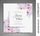 wedding invitation. beautiful... | Shutterstock .eps vector #1298818495