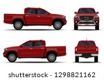 realistic car. truck  pickup.... | Shutterstock .eps vector #1298821162
