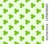 light green clover leaves...   Shutterstock .eps vector #1298838685