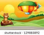 Illustration Of A Bear Near Th...