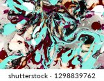 drawing paints on water.... | Shutterstock . vector #1298839762