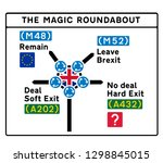 road sign with the magical... | Shutterstock .eps vector #1298845015