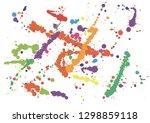 paint splatter background.... | Shutterstock .eps vector #1298859118