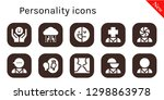 personality icon set. 10... | Shutterstock .eps vector #1298863978