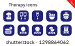 therapy icon set. 10 filled... | Shutterstock .eps vector #1298864062