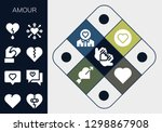 amour icon set. 13 filled... | Shutterstock .eps vector #1298867908