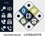 dial icon set. 13 filled dial... | Shutterstock .eps vector #1298868598