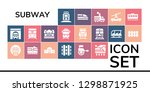 subway icon set. 19 filled... | Shutterstock .eps vector #1298871925