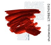 red brush stroke and texture.... | Shutterstock .eps vector #1298874592