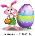illustration of a rabbit... | Shutterstock . vector #129888176