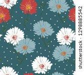 blossom floral seamless pattern ...   Shutterstock .eps vector #1298885542