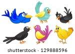 illustration of birds with... | Shutterstock . vector #129888596