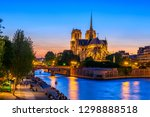 Night View Of Cathedral Notre...