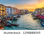 grand canal with gondolas in... | Shutterstock . vector #1298888545