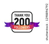 200 followers number with color ...   Shutterstock .eps vector #1298896792