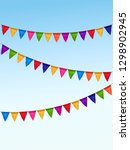 vector colored flag garland on... | Shutterstock .eps vector #1298902945