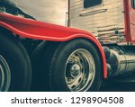 semi truck heavy duty tires and ... | Shutterstock . vector #1298904508