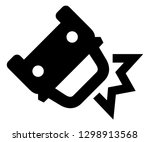 auto accident vector icon | Shutterstock .eps vector #1298913568