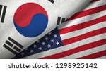 south korea and united states... | Shutterstock . vector #1298925142