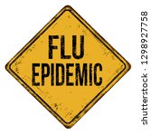flu epidemic vintage rusty...   Shutterstock .eps vector #1298927758