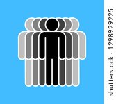 people icon. crowd sign.... | Shutterstock .eps vector #1298929225
