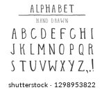 vector hand drawn alphabet in... | Shutterstock .eps vector #1298953822
