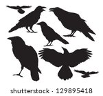 Vector Silhouette Of A Crow