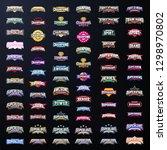 sport emblem typography set.... | Shutterstock .eps vector #1298970802