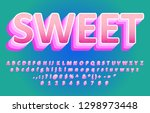 layered cartoon alphabet desigm ... | Shutterstock .eps vector #1298973448